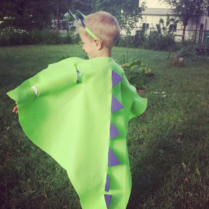 No-Sew Dragon Costume